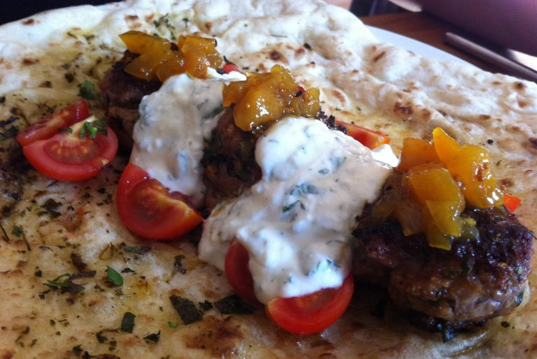 Lamb Kebabs with Spiced Pineapple & Nigella Chutney