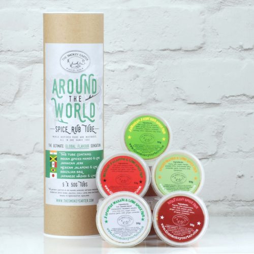 Around the world BBQ Rub Tube