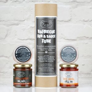 BBQ rub and sauce tube