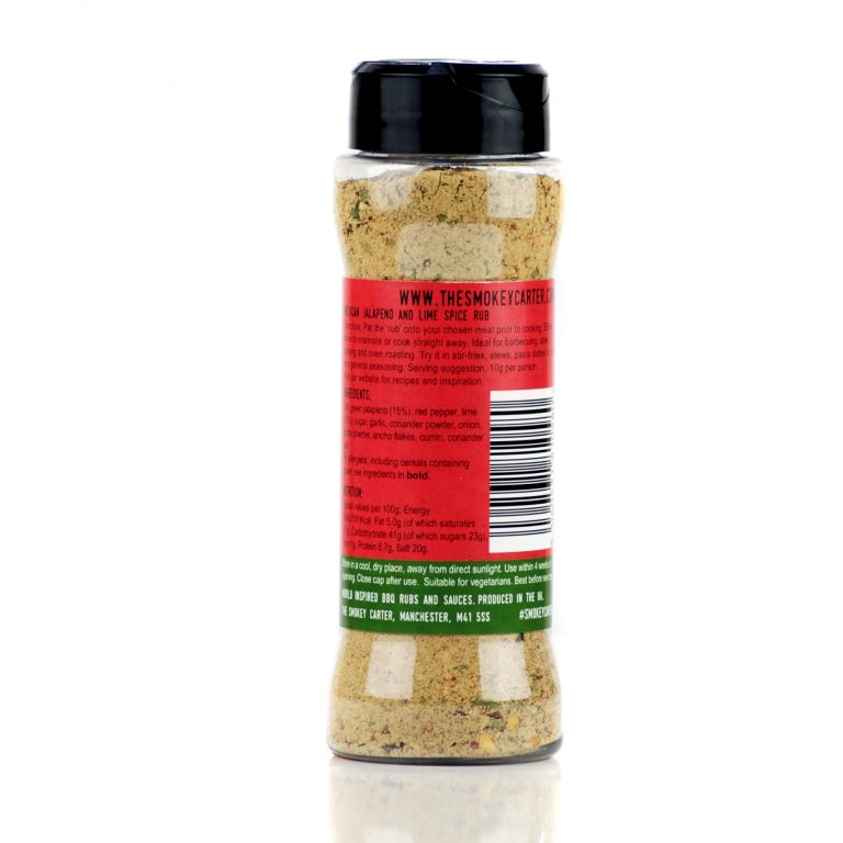 Mexican Jalapeno and Lime BBQ Rub Shaker