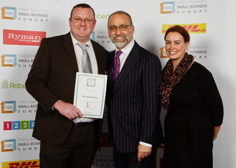 Howard and Samantha Carter with Theo Paphitis