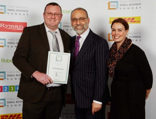 The Smokey Carter collect award from Theo Paphitis
