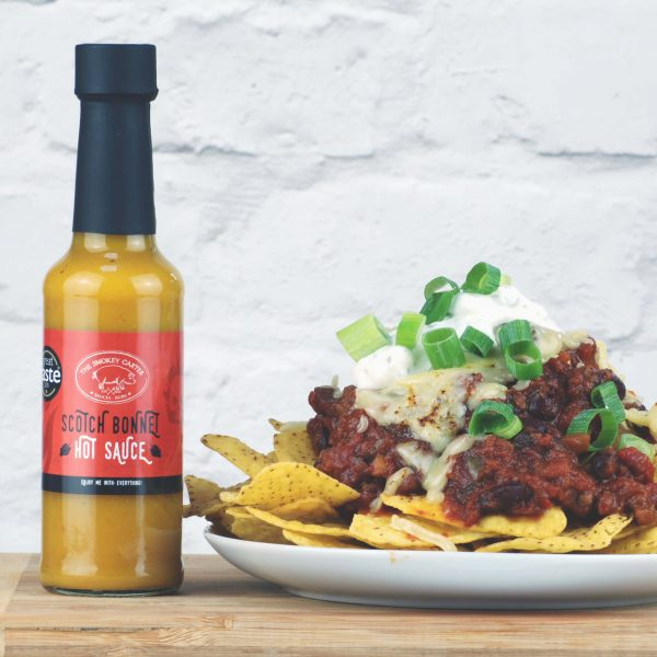 Scotch Bonnet hot sauce nachos