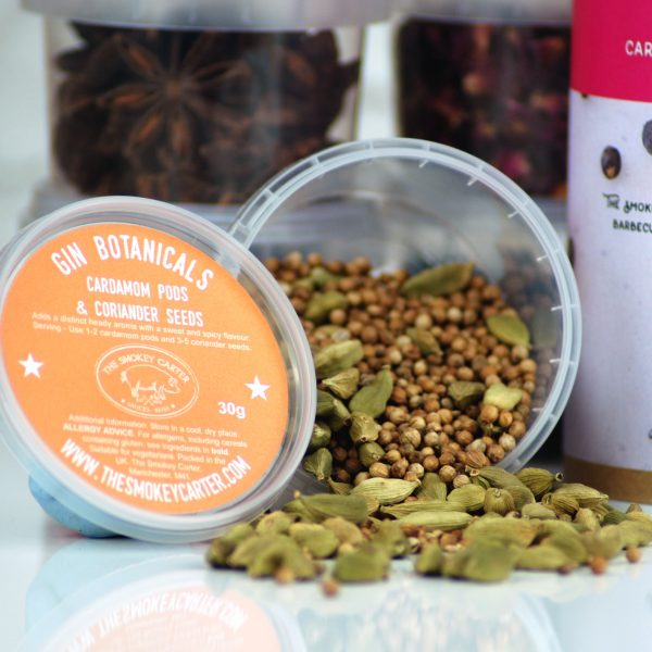 Gin Botanicals - cardamom and coriander seeds