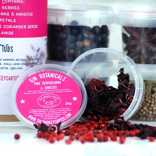 Gin Botanicals - pink peppercorn and hibiscus